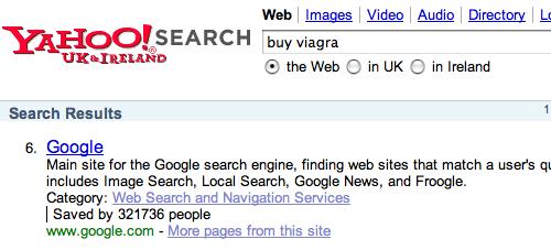 Yahoo прикольнулся над Google
